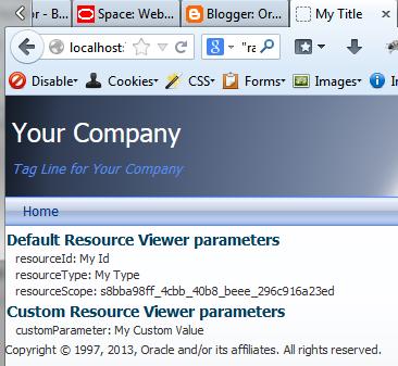 Resource Viewer of the custom resource