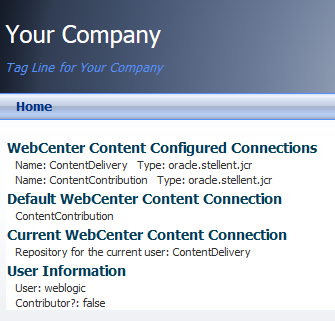 Content Presenter using one of the Content Repositories