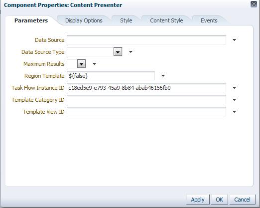Content Presenter Configuration Properties