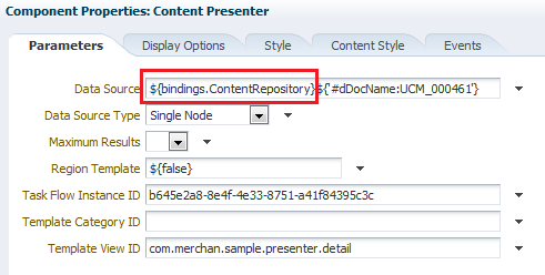 Configuration Properties using dynamic Content Repository